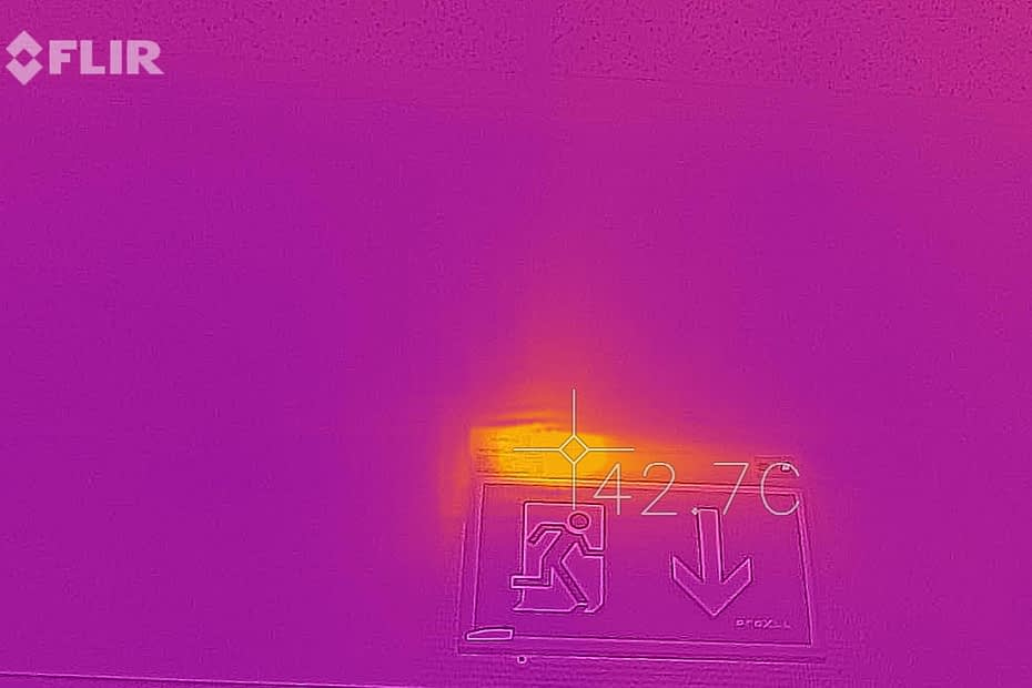FLIR kamera termofotografi av nødlys