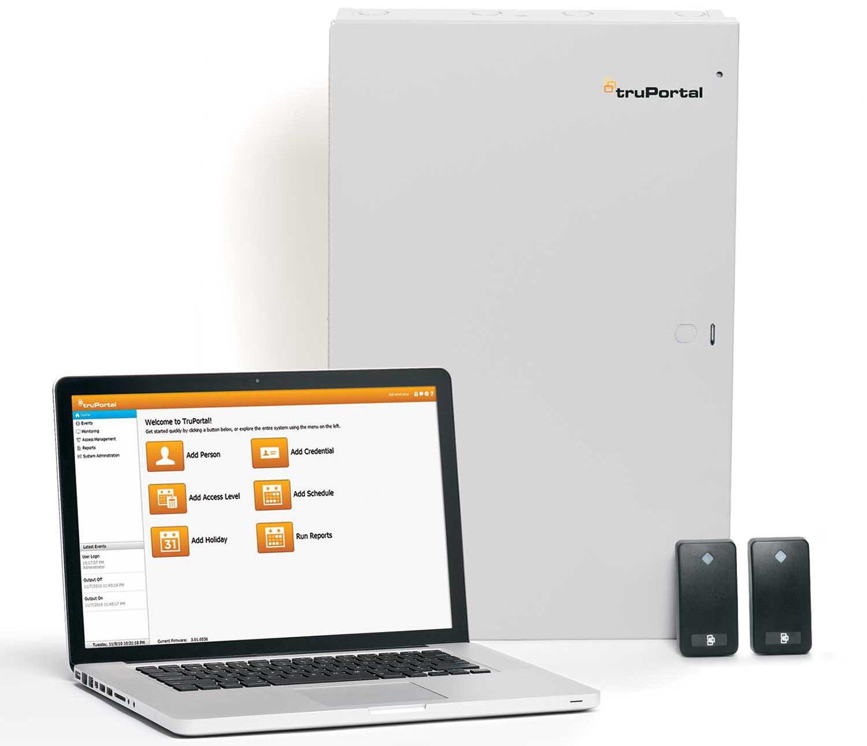 Truportal adgangskontroll med PC